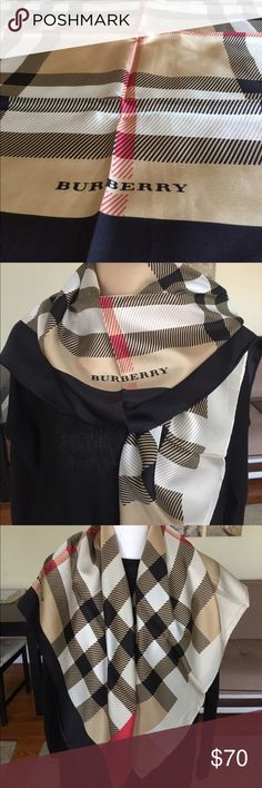 Burberry silk scarf Brandnew pure twill silk. It is perfect size use as head scarf Burberry Accessories Scarves & Wraps