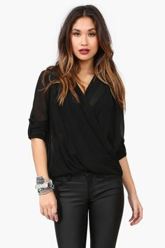 FOLD OVER BLOUSE