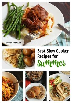 Take some the heat out of the kitchen this summer and put your slow cooker to work. Add these best slow cooker recipes for summer to your meal plan. Best Pressure Cooker, Best Slow Cooker, Crock Pot Slow Cooker, Slow Cooker Recipes, Crockpot Recipes, Cooking Recipes, Dinner Recipes Easy Quick, Summer Recipes, Easy Meals