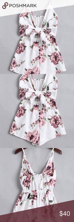 🎉 HOST PICK 🎉 Floral Print Tie Cut Out Romper Floral Print Tie Cut Out Romper. 🎉 HOST PICK 🎉 7/28 FLIRTY FAVORITES THANKS @avf920 !!!!! 💕 Dresses Mini