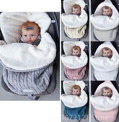 My Baby Boutique Infant Baby Warm Soft Fleece Swaddle Sleeping Bag Wearable Blanket Ivory Fox