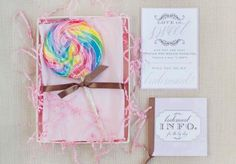 Loving this sweet treat bridesmaid invite by Imaj Design! Photo by Sarah Kate, Photographer. #wedding #bridesmaid #invite #lollipop