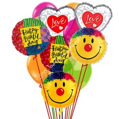 Grand Birthday Love and Smiles Balloons from 1-800-Balloons.com