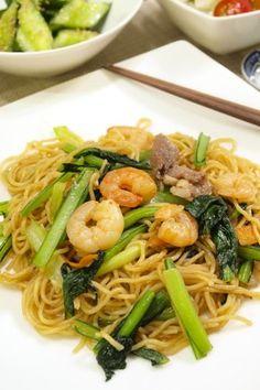 簡単中華♪上海風焼きそば Chinese Food, Japanese Food, Japanese Noodles, Good Food, Yummy Food, Asian Recipes, Ethnic Recipes, No Cook Meals, Food And Drink