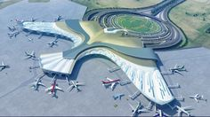 Best terminal design ever! Unique Architecture, Futuristic Architecture, Architecture Plan, Computer Architecture, Garden Architecture, Airport Design, Urban Design Plan, Futuristic City, Unique Buildings