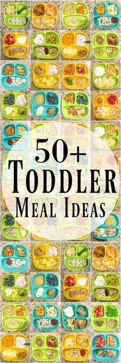 Need some healthy toddler meal ideas? Here are 50 kid-friendly ideas for breakfast, lunch and dinner to help inspire you if you��re stuck in a rut!