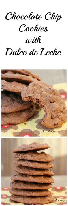 Heavenly Chocolate Chip Cookies with Dulce de Leche & Brazil nuts.
