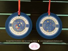 Outer Space Birthday Party Favor Tags Rocket Stars I detail: I like how the knots are tied. --- Planet Galaxy Science Boy Girl 1st 5th 6th 7th 8th Boogie Bear Invitations Skyler Theme by BoogieBearInvitation on Etsy https://www.etsy.com/listing/265739593/outer-space-birthday-party-favor-tags