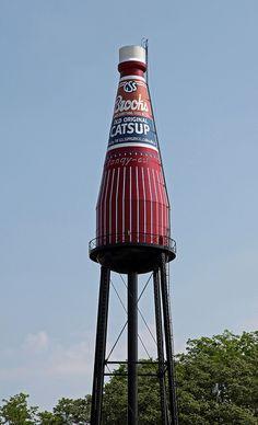 Brooks Catsup Bottle Water Tower ~ Collinsville, Illinois