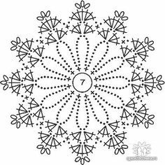 Knitting Patterns Christmas Crochet picture result for stars free Crochet Snowflake Pattern, Crochet Snowflakes, Crochet Mandala, Crochet Diagram, Crochet Stitches Patterns, Crochet Chart, Crochet Squares, Thread Crochet, Crochet Doilies