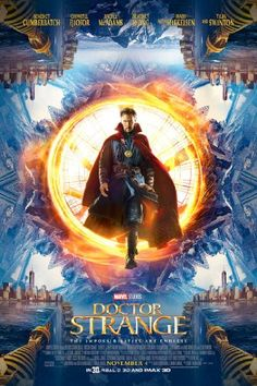 Doctor Strange (2016) After a car accident leaves him with severe nerve damage in his hands, an egotistical surgeon sets out to find Kamar-Taj to quickly heal himself, and ends up learning the way of the mystic arts. There's some dazzling sequences. For the most part, the film works. The cape should get it's own movie. Stars Benedict Cumberbatch, Tilda Swinton, Chiwetel Ejiofor, Rachel McAdams, Benedict Wong, Michael Stuhlbarg and Benjamin Bratt.