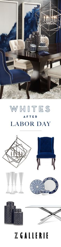 This Labor Day, celebrate with clean colors and plenty of style.  Save 15%…