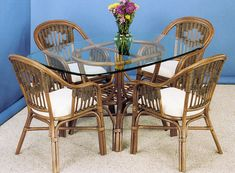 Malibu Stain Finish Dining 6-PC SET2 Model 3100SET2 By Summit Design Outdoor Furniture Sets, Wicker, Beach Furniture, Dining Room Furniture Sets, Table Base, Natural Wood Furniture, Stain Finishes, Dining Arm Chair, Wicker Dining Set