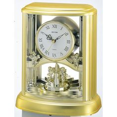 Cherub Angels Roman Numeral Table Clock - Plays Greensleeves Song