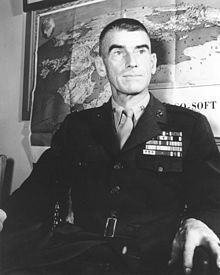 "BGen Evans Carlson, 3 Navy Crosses, known for the Makin Island raid,1942, and the ""Long Patrol"" behind Japanese lines on Guadalcanal, in which 488 Japanese were killed."