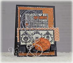 Card by Andrea Ewen using Boo to You from Verve.  #vervestamps