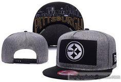 33a2ec76a2938 NFL Pittsburgh Steelers Grand Snapback Hats Caps Black Gray Pittsburgh  Steelers Hats