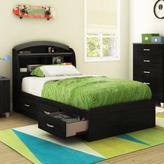 Lazer Twin Mate's Bed with Storage
