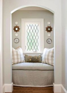 """""""Diamond grid casement window with crank out handle"""" have a window like this but horizontal and mocha brown wood color. Or light wood"""