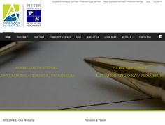 DYNAMIC WEBSITE DESIGN CMS - Annemarie & Pieter Swanepoel Attorneys (Conveyancing & Notarial Law |  Litigation, Corporate & Commercial Law) in Nelspruit & White River.