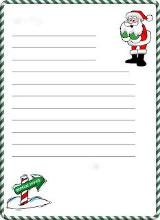 Christmas letter template - Write to Santa with a Free Dear Santa Letter Template – Christmas letter template Free Santa Letter Template, Christmas Letter Template, Free Letters From Santa, Letter Writing Template, Santa Letter Printable, Templates Printable Free, Paper Templates, Writing Letters, List Template