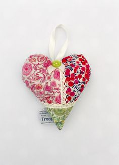 Liberty Patchwork Lavender Heart, Lavender bag, Liberty fabric, Hanging Heart, Sew Tracy Fabric Hearts, Lavender Bags, Hanging Hearts, Liberty Fabric, Beautiful Gifts, Sewing Patterns, Great Gifts, Handmade Items, Christmas Ornaments