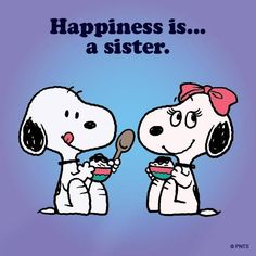 Snoopy and his sis Bella having ice cream. :)