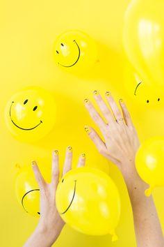 DIY Smiley Face Mani | studiodiy.com