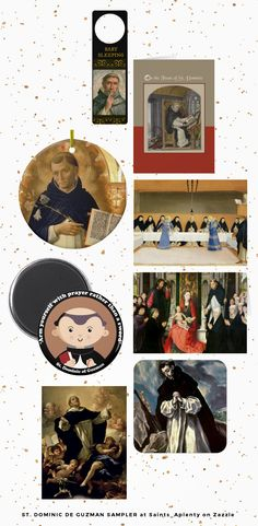 St. Dominic de Guzman Sampler -  Whether they are contemporary artists producing original art or fine arts specialists from such venerable resources as the Bridgeman Art Library producing reproductions of Old Masters, Zazzlers are a talented lot!  At Zazzle you'll find first-rate items to meet your decorating and gift-giving needs.    Browse our St. Dominic Sampler for an introduction to just some of these designers and designs!