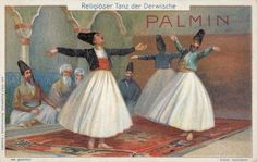 [Danza religiosa dei dervisci], 1903-14 German, Learning, Trading Cards, Cover, People, Posters, Painting, Vintage, Museums