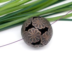 0 Large Copper Flower Filigree Spacers Beads 20mm -SS