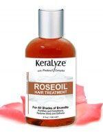 Keralyze Roseoil Hair Treatment for all Hair Shades of Brunette 4 oz.