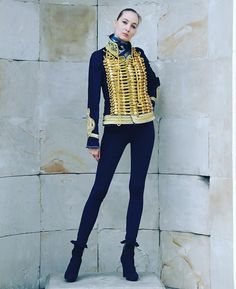 #belgraviapunx #belgravia #punx #jacket #denim #jeans #ornament #embroidery #gold #fashion #london #paris #milan #chic #blue #navyblue #longlegs #girl #model #ballerina #highheels #leggins #slender #sporty #silhouette #equestrian #hussar #sexy #military #style