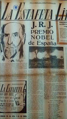 #JuanRamónJimenez #NobelLieratura #LaEstafetaLiteraria, 1956 #Cultura