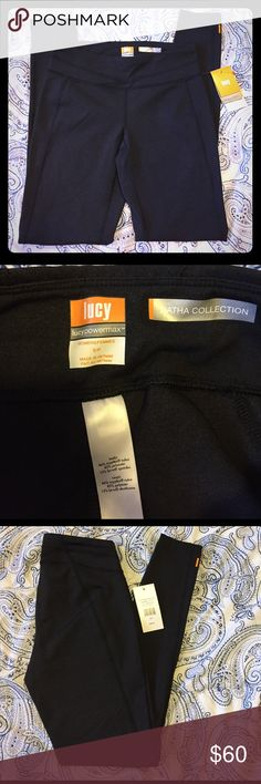 NWT Lucy black heather Hatha legging Brand new with tags!! Lucy powermax leggings. Lucy Pants