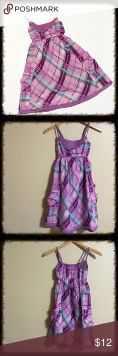 LEI Taylor Swift Purple Plaid Sundress Purple Plaid Sundress with Pockets. L.E.I. sundresses by Taylor Swift. Adjustable straps, tie back. Elastic panel at back. Fully lined. In very good condition. Taylor Swift Dresses Casual