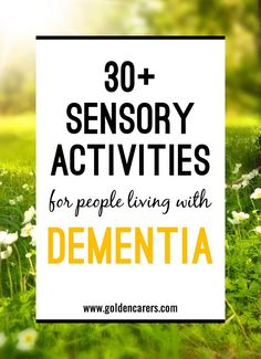 Sensory stimulation is the activation of one or more of the senses such as taste, smell, vison, hearing, and touch. Sensory stimulation is a key component for improving the quality of life of residents living with dementia or Alzheimer's.