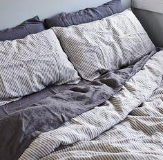 Linen bedding by the @inbedstore