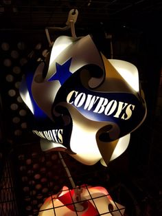 Dallas Cowboys Football Star Shaped Puzzle Lamp by GetLightMe