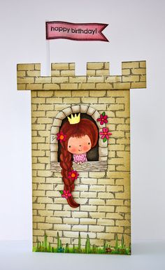 cute castle card - bjl