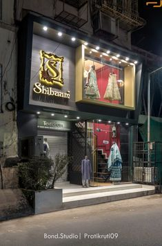 Modern-Ethical Bridal wear Showroom Interior | BondStudio Architects - The Architects Diary Showroom Interior Design, Boutique Interior Design, Restaurant Interior Design, House Front Design, Shed Design, Commercial Building Plans, Bathroom Sink Design, Clothing Store Design, Front Elevation Designs