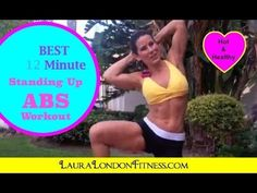 12 Minute Standing Up Abs - Lets Kick those ABS into shape - YouTube