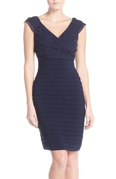 Adrianna Papell Chiffon & Jersey Sheath Dress available at #Nordstrom