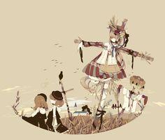日本插画师しきみ(Keeggy)的黑童话,可以当素材的美图啊