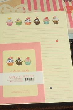 Photo1: Kawaii Letter Set - I love cake