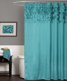 This Turquoise Lillian Shower Curtain by Lush Décor is perfect! #zulilyfinds
