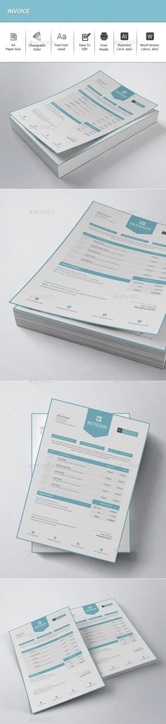 Clean Resume/CV by sawonahmed Features: • Illustrator (.eps) • MS Word Included (.doc) • Very Easy to Edit• Page size • Bleed Invoice Design Template, Simple Resume Template, Teacher Resume Template, Letterhead Template, Creative Resume Templates, Print Templates, Cv Template, Resume Ideas, Branding Ideas