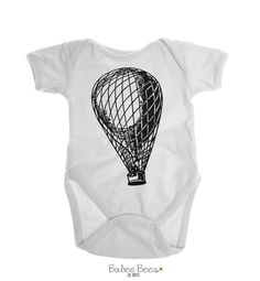 Hot Air  Our cute baby clothes can be changed to any color on our color chart. This design is perfect for a baby girl or baby boy and works great as a