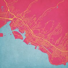 Honolulu, Hawaii - City Prints Map Art