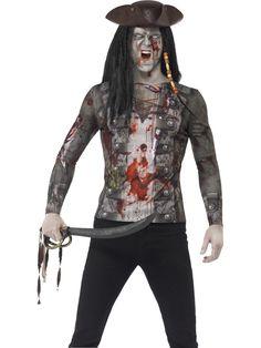 Zombie Pirate T-Shirt Costume £13.99 https://funnfrolic.co.uk/index.php/zombie-pirate-t-shirt.html